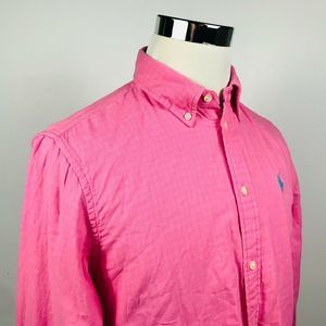Polo Ralph Lauren Mens Large Linen Blend Shirt